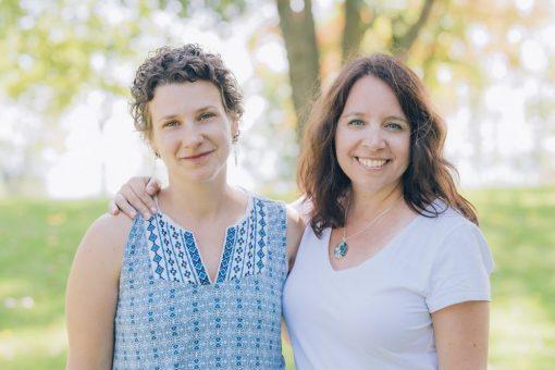 Doula Jenny Berthiaume and Sylvia Otvos; new Postpartum Doula Training